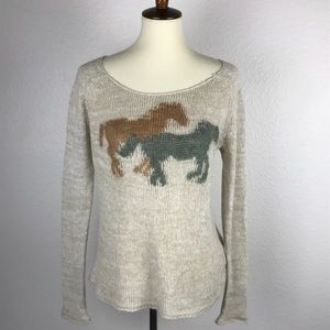 Free People Horses Scoop Neck Sweater